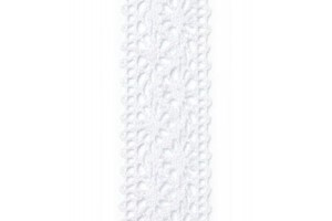 Nėrinys baltas 22 mm. 1 m.