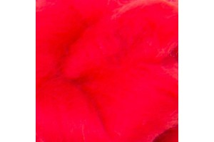 Merino wool 16 microns, hot red