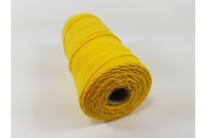 Virvelė medvilninė geltona 1,5 mm. 100 metrų.