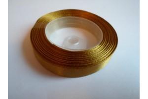 Satininė juostelė auksinė 12 mm. 1 metras.
