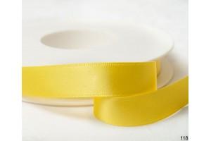 Satininė juostelė saulės geltona 12 mm. 1 metras.