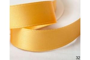Satininė juostelė  geltona 12 mm. 1 metras.