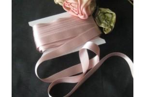 Satininė juostelė vintažinė rožinė 12 mm. 1 metras.