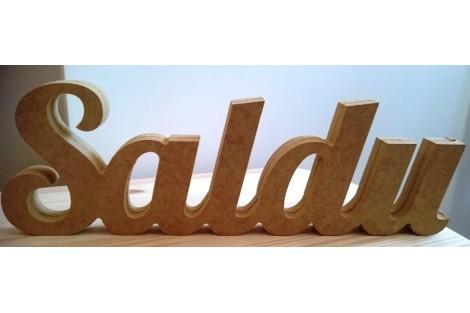 Pastatomas MDF žodis Saldu Gift100