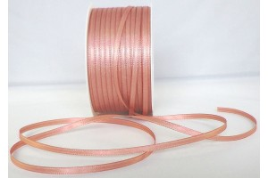 Satin Ribbon 6 mm., vintage dark pink