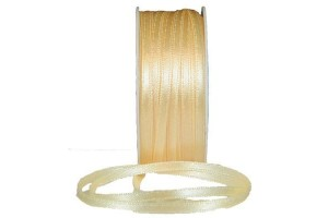 Satin Ribbon 6 mm., 1 m cream