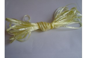 Satin Ribbon 6 mm., 1 m yellow