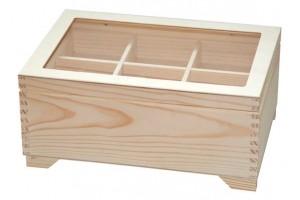 Medinė dėžutė komodėlė su stikliuku 30 x 20,5 x 13,4cm . DR1839