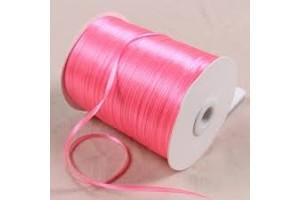 Satin Ribbon 6 mm., 1 m.  hot pink