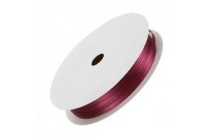 Satininė blizgi juostelė vintažinė rožinė 3 mm. 1 m.