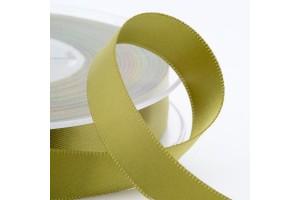 Satininė blizgi juostelė vintažinė žalia 3 mm. 1 m.