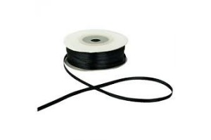 Satin ribbon blitz 3 mm. 1 m. black