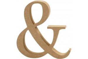 """Pastatomas ženkliukas """"ir"""" 8 cm. x 1,5 cm. MDF"""