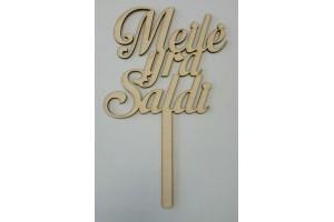 """Medinė dekoracija """"Meilė yra Saldi"""" ant kotelio Gift114A"""