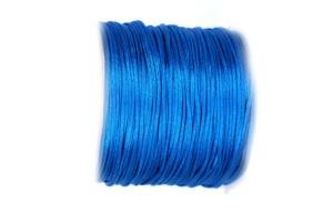Satininė virvelė 2 mm. 1 m. mėlyna