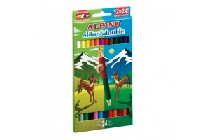 Double sided coloring pencils, 24 colors