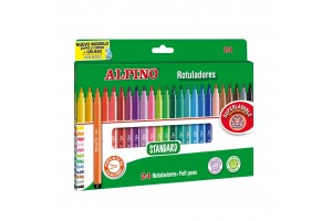 ALPINO felt pen set, 24 colors