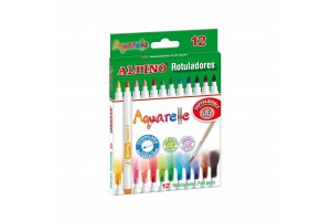 ALPINO Aquarelle felt pen set, 12 colors