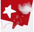 Filcas, 20x30 cm., 1 mm., raudona su ornamentu, 45381
