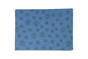 Felt, 20x30 cm., 1 mm., blue with ornaments, 45386