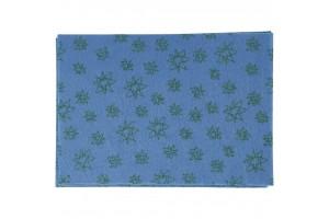 Filcas, 20x30 cm., 1 mm., mėlynas su ornamentu, 45386