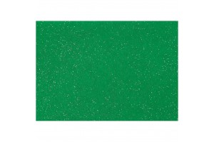 Felt, 20x30 cm., 1 mm., green with glitter, 45384