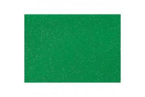 Filcas, 20x30 cm., 1 mm., žalias su blizgučiais, 45384