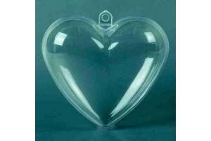 Plastikinis žaisliukas širdelė 6 cm.