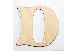 Medinė raidė D (2 cm)