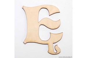 Medinė raidė Ę (2 cm)