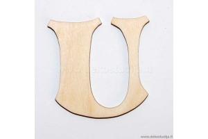 Medinė raidė U (2 cm)