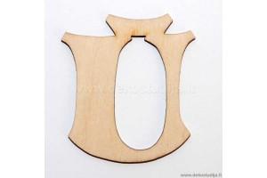 Medinė raidė Ū (2 cm)