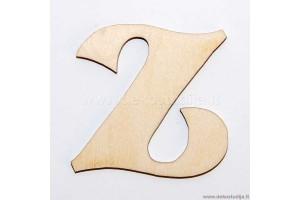 Medinė raidė Z (2 cm)