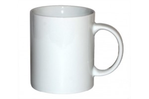White ceramic mug, 300 ml.