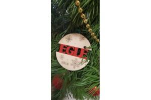 Medinis kalėdinis žaisliukas su jūsų vardu 10 cm.