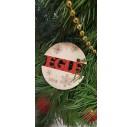Medinis kalėdinis žaisliukas su jūsų vardu