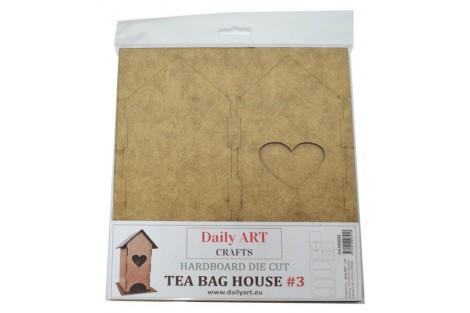 Dėžutė arbatos namelis sudedama