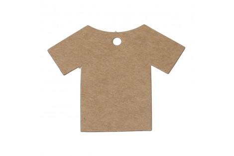 """Natūralios """"craft"""" marškinėliai etiketės 10 vnt."""