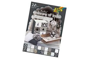 """Dekoratyvinio popieriaus rinkinys """"India"""" A4 formato,20 lapų, F550405"""