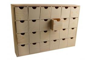 Medinis advento kalendorius dėžutė su 24 skyreliais