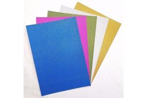 Blizgus popierius kartonas A4 10 lapų