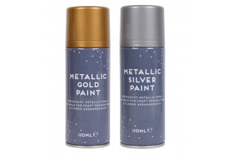 Purškiami permanentiniai dažai aukso spalva 110 ml.