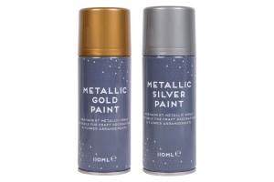 Purškiami permanentiniai dažai sidabro spalva 110 ml.