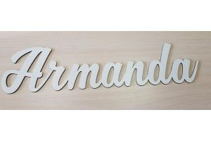 Wooden personalized word 12 cm. high