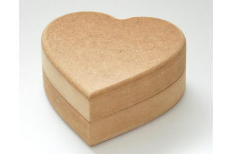 Dėžutė širdis MDF 12,5 x 11x 5,5 cm.
