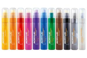 Acrylic marker 15 mm., kent blood red