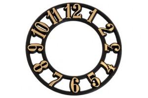 Skaičiai laikrodžiui arabiški 15 mm. auksiniai (apvalus) 1289
