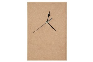 Clock MDF rectangle with pointers and mechanism 1293