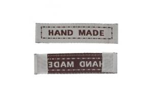 "Cotton label ""hand made"" 45x10mm"