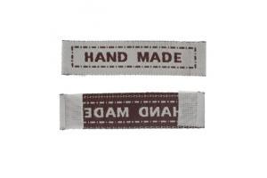 """Medvilninė kreminė etiketė """"hand made"""" 45x10mm"""